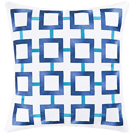 "Blue 18"" Square Throw Pillow"
