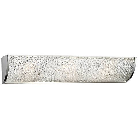 "Encased Crystals 24"" Wide Polished Chrome Bathroom Light"