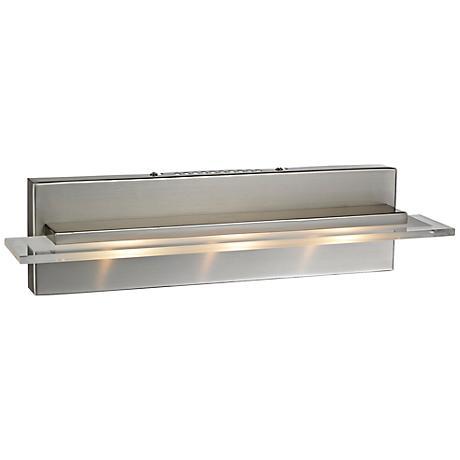 "Linton Collection 18"" Wide Satin Nickel LED Bathroom Light"