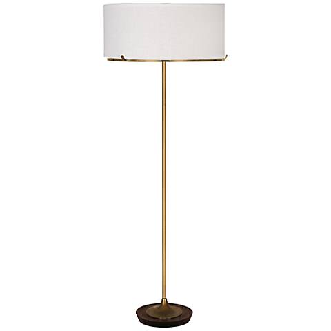 Robert Abbey Edwin Aged Brass Floor Lamp