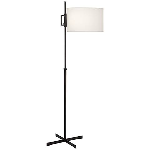 Robert Abbey Max Deep Patina Bronze Modern Floor Lamp