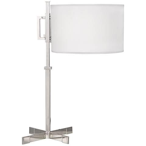 Robert Abbey Max Polished Nickel Modern Desk Lamp