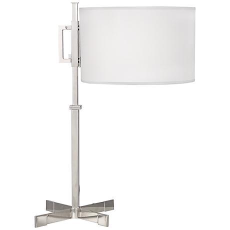 Robert Abbey Max Polished Nickel Modern Desk Lamp