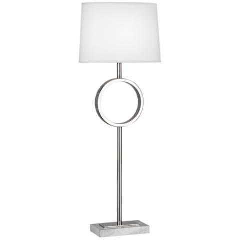 Robert Abbey Logan Polished Nickel Buffet Lamp 3n334