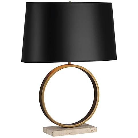 Robert Abbey Logan Aged Brass And Black Table Lamp