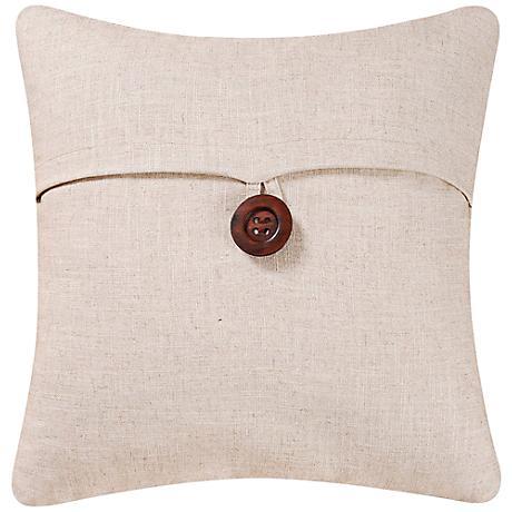 "Natural 18"" Square Envelope Throw Pillow"