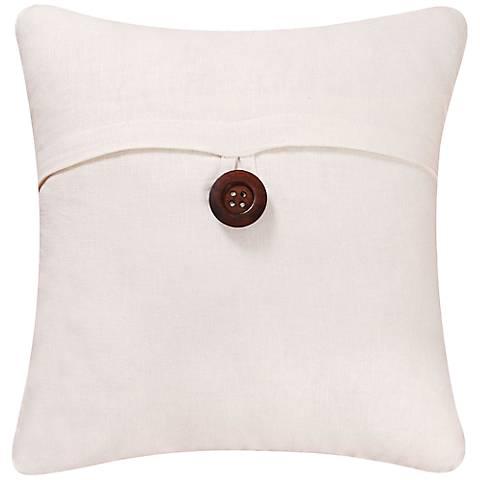 """White 18"""" Square Envelope Throw Pillow"""