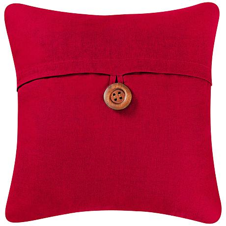 """Red 18"""" Square Envelope Throw Pillow"""