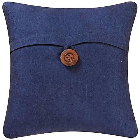 "Navy 18"" Square Envelope Throw Pillow"