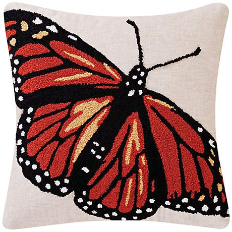 """Monarch Red 18"""" Square Throw Pillow"""