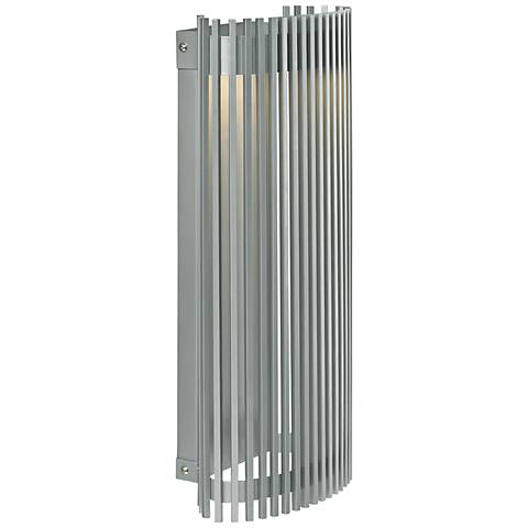 """LBL Upstate 18"""" High Silver LED Outdoor Wall Light"""