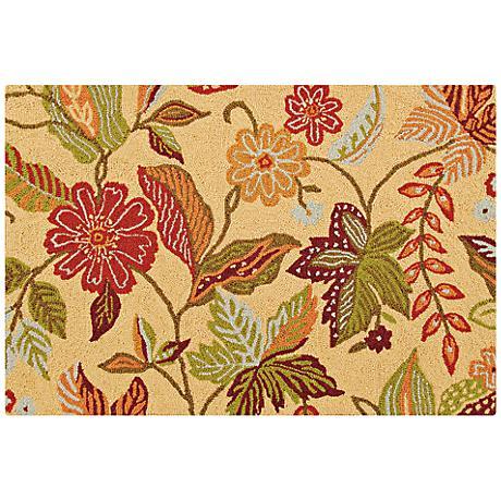 Henly 2'x3' Hooked Floral Wool Doormat