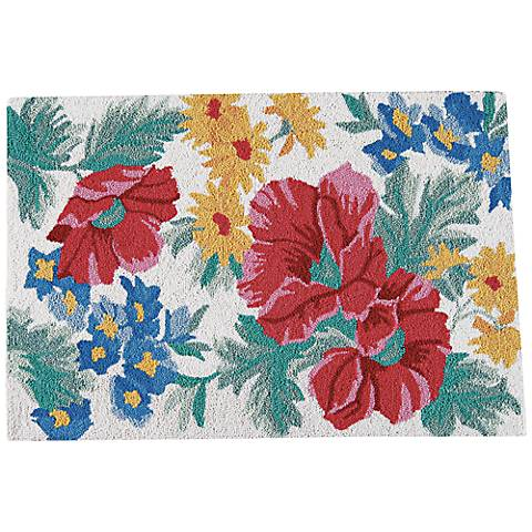 Madeline 2'x3' Hooked Floral Wool Doormat
