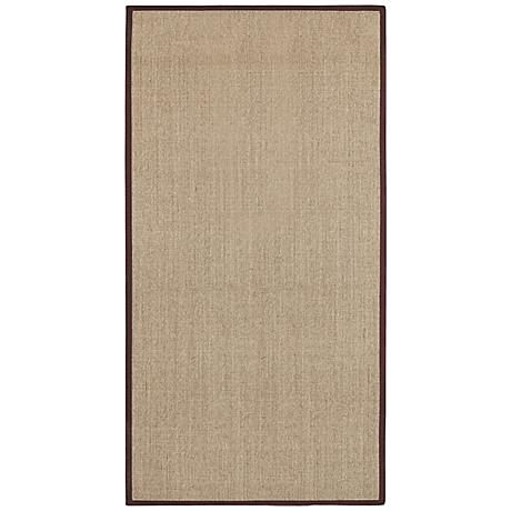 Marble Sisal with Brown Border Area Rug