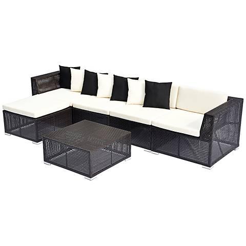 6-Piece Modular Outdoor Sectional Sofa Set
