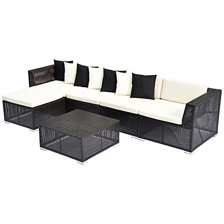 6-Piece Modular Outdoor Sectional Sofa Set