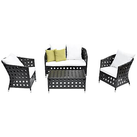 4-Piece Green Outdoor Patio Furniture Set