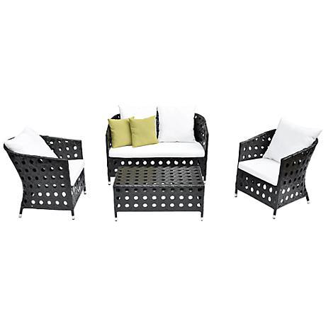 4-Piece Green Outdoor Patio Furniture Set
