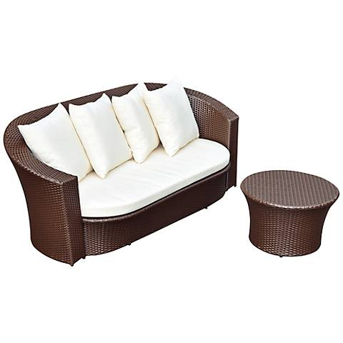 2-Piece Round-Back Patio Sofa Set