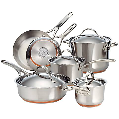 Anolon Nouvelle Copper 10-Piece Cookware Set