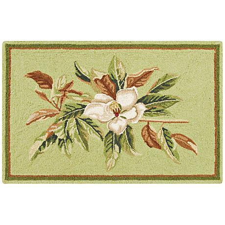 Magnolia Garden 2'x3' Floral Doormat