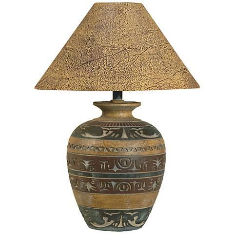 Haze Saddle Handcrafted Southwest Table Lamp