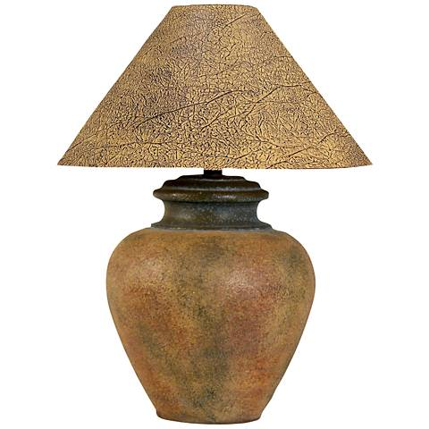 Handcrafted Southwest Terra Cotta Table Lamp