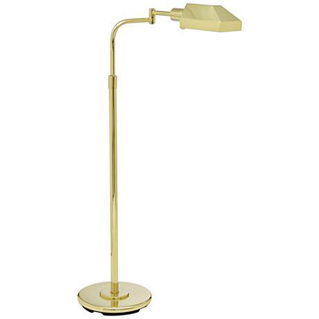 House of Troy Shiny Brass Adjustable Pharmacy Floor Lamp