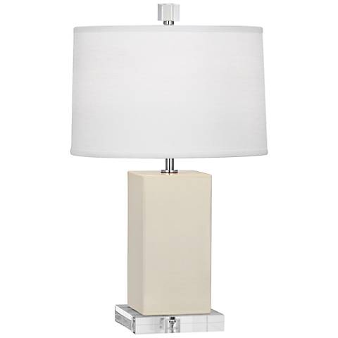 Robert Abbey Harvey Bone Glazed Ceramic Accent Lamp