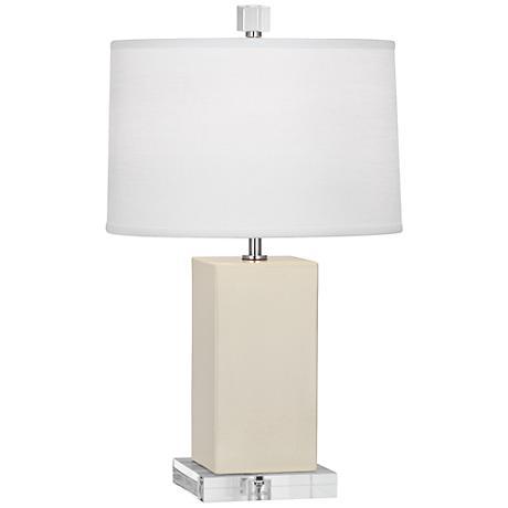 Robert Abbey Harvey Bone Glazed Ceramic Accent Lamp