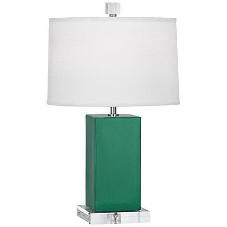 Robert Abbey Harvey Emerald Glazed Ceramic Accent Lamp