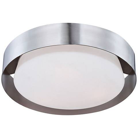 """Saturn Collection 15 1/2"""" Wide Satin Nickel Ceiling Light"""
