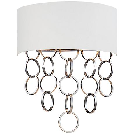"Eurofase Novello 19"" High White Chrome Wall Sconce"