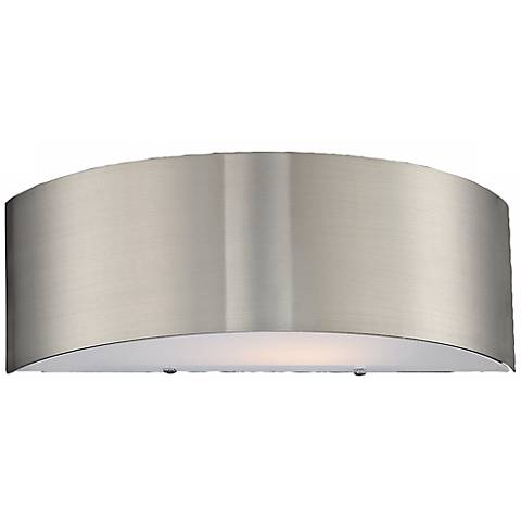 "Dervish Collection 14"" Wide Satin Nickel Sconce"