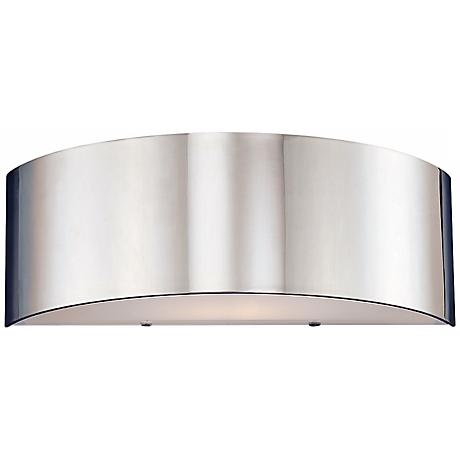 """Dervish Collection 14"""" Wide Chrome Sconce"""