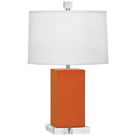 "Robert Abbey 19 1/4""H Harvey Pumpkin Ceramic Accent Lamp"
