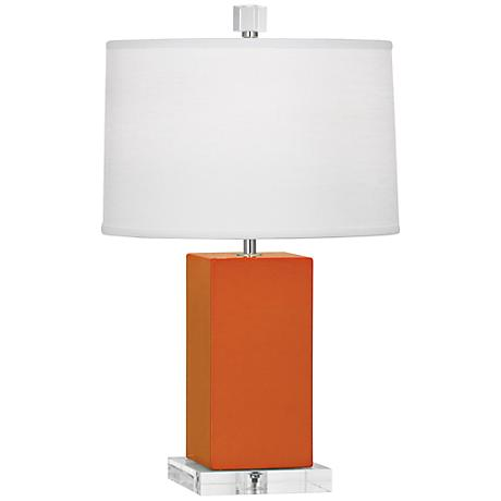 Robert Abbey Harvey Pumpkin Glazed Ceramic Accent Lamp