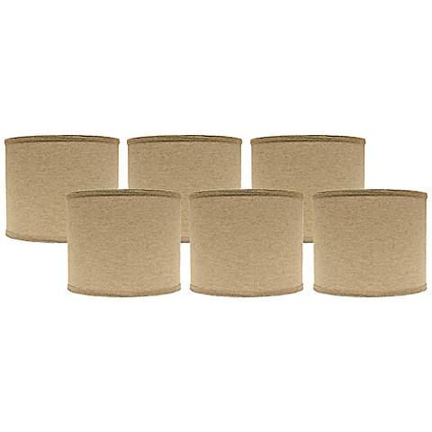 Set of 6 Heavy Basket Lamp Shades 5x5x4.5 (Clip-On)