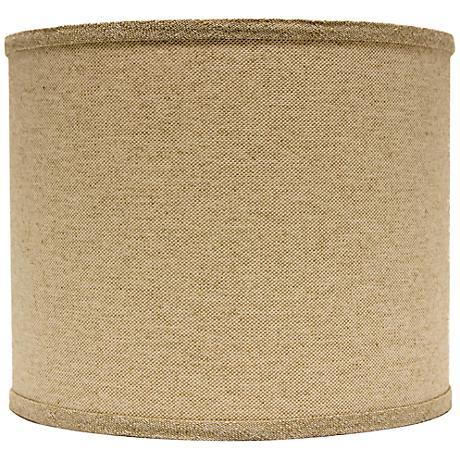 Neutral Heavy Basket Drum Lamp Shade 14x14x11 (Spider)