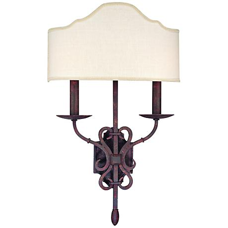 """Seville Collection 22 1/4"""" High Weathered Iron Sconce"""