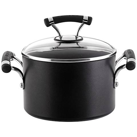 Circulon Contempo Black Aluminum 3-Quart Covered Saucepot