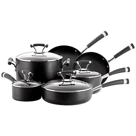 Circulon Contempo Black Aluminum 10-Piece Cookware Set