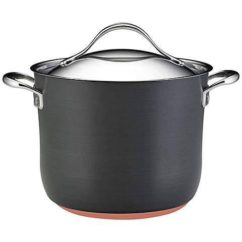 Anolon Nouvelle Gray Copper 8-Quart Covered Stockpot