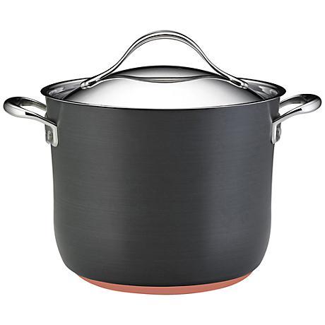 Anolon Nouvelle Gray Copper 8-Quart Covered Stockpot