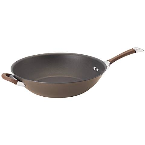 "Circulon Symmetry Brown Aluminum 14"" Stir Fry"