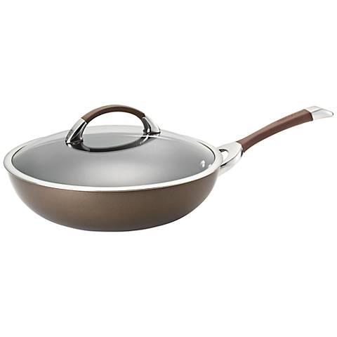 """Circulon Symmetry Brown Aluminum 12"""" Essential Pan"""