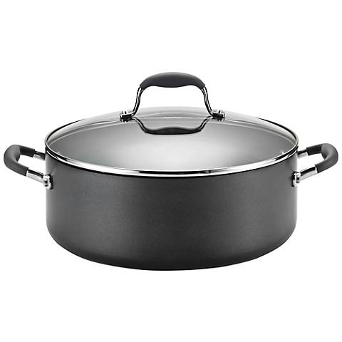 Anolon Advanced Gray 7 1/2-Quart Covered Wide Stockpot