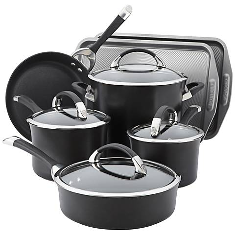 Circulon Symmetry Black 11-Pc Cookware/Bakeware Set