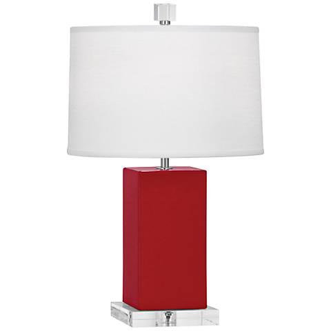 Robert Abbey Harvey Ruby Red Glazed Ceramic Accent Lamp