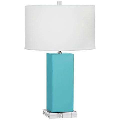 Robert Abbey Harvey Egg Blue Glazed Ceramic Table Lamp